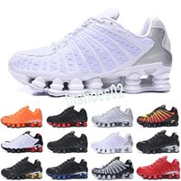 Nike Air Max Shox TL New Bred TL Herren-Schuhe OZ NZ R4 1308 Lauf Triple Black Metallic Silver Sonnenaufgang Universität Red Trainer Designer Sport Turnschuhe t41