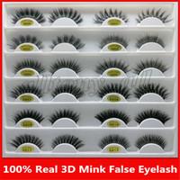 3D Vison Réutilisable Faux Cils 100% Réel Sibérien 3D Bande De Cheveux De Vison Faux Cils Maquillage Longue Cils Individuels Mink Lashes Extension