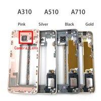 Cep Telefonu Tamponlar LCD Faceplate Samsung Galaxy A3 A5 A7 A310F A510F A710F Orta Çerçeve Konut Yedek Parçalar için Ön Çerçeve