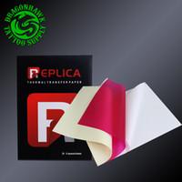 20pcs 전송 용지 4 층 탄소 열 스텐실 종이 A4 크기 붉은 색 문신 전송 복사본 종이 WS129-5