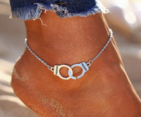Hot Sale Vintage Silver Color Handcuffs Anklets for Women Bo...