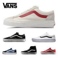 b6fa224da9 Vans Skool Sk8 Casuais Sapatos Casuais Sapatilhas de Lona Das Mulheres Dos  Homens Preto Branco Vermelho
