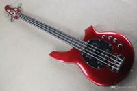 Ücretsiz nakliye Gerçek fotoğraflar Sıcak Satış Yüksek Kalite Aktif musicman Bongo 4 Dize Music Man Elektrik Bas Gitar kırmızı