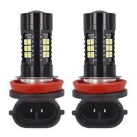 2 piezas Buena calidad Canbus H11 3030 21SMD LED DRL Bombillas diurnas Faros antiniebla Luces de conducción de alta potencia Luces antiniebla