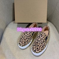 women round toe flat shoes loafers leopard with metal studs ...
