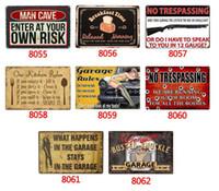 Ferramenta de cozinha Regras Retro Vintage aviso de Metal estanho assinar cartaz para Homem Caverna Garagem chique gasto adesivo de parede Cafe Bar decoração da sua casa