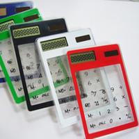 NEUE LCD 8-stellige Touchscreen Ultra Slim Transparenter SolarrechnerStationery Wissenschaftlicher Rechner