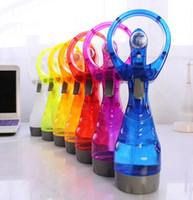 Ventilador portátil handheld com frasco de pulverizador de água Mini ventilador para escritório handheld spray festa festa favor ljjk2228