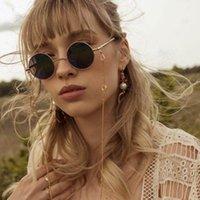 선글라스 프레임 2021 안경 끈을위한 금속 원형 황금 패션 여성 Sunglasse 체인 끈 목걸이 독서 홀더 액세서리