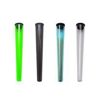 Tabaco plástico Doob tubo Stash Jar 115mm hierba caso del almacenaje de contenedores de cigarrillos Rolling Paper Cono Tubo píldora del Pre-roll Preroll Embalaje