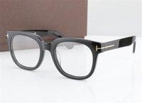 الرجال النظارات البصرية الإطار توم 5179 مصمم العلامة التجارية الإطار اللوح الخشبي الكبير نظارات إطارات للمرأة ريترو قصر النظر نظارات إطارات مع حالة