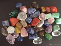 200 g Surtido de piedras preciosas cayoradas piedras mixtas del arco iris natural Amatista Aventurine Colorful Rock Mineral Agata para Chakra Healing Reiki