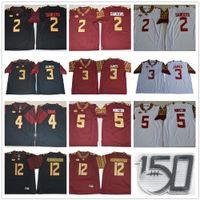 NCAA FSU 150th Florida State Seminizes College # 2 Deion Sanders 3 Derwin James 4 Dalvin Cook 5 Jameis Winston 12 Akers Hornibrook Jersey