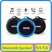 Haut-parleur stéréo sans fil Bluetooth étanche C6 colonne extérieure Boîte basse Support carte TF Portable haut-parleurs Sucker petit son