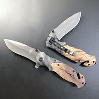 Специальное предложение! Browning X50 нож 440C нержавеющая сталь, титан Flipper отделочного покрытия, деревянная ручка EDC Карманного складной нож кемпинг ножей