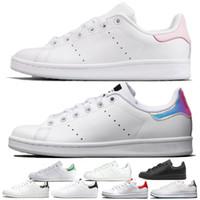 Adidas OFF WHITE Gucci Moda Superstars Stan Smith Kadın Erkek Rahat Ayakkabılar Kırmızı Yeşil Üçlü Siyah Beyaz Gümüş Rahat Deri Spor Platformu Sneakers Boyutu 36-44