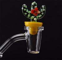 Conico quarzo Banger Nail Glass Cactus Carb Cap 10 millimetri 14 millimetri 18 millimetri Donna Uomo comune Bong Bangers Chiodi Club DAB Rigs