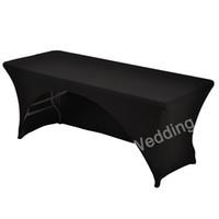 183 cm bianco nero spandex lycra cucina tavolo da pranzo panno di lino da sposa dj tovaglie ad arco per tavolo rettangolare