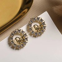New 2020 Letter Stud Hollowed Out Feeling Earrings Wholesale...