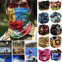 Ciclismo al aire libre Bufanda Máscara Turbante mágico Protector solar Banda para el cabello Pañuelo sin costuras Viaje de ocio Diadema multifuncional 24 Estilo XD19961