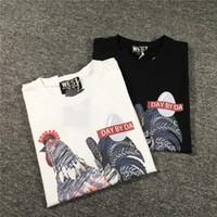 19SS Mens StylistT shirt Casual mangas curtas pica impressão de alta qualidade Homens Mulheres Moda Black White Tees