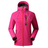 Saenshing Softshell Jacket Mulheres Marca Waterproof chuva Brasão Outdoor Caminhadas Vestuário feminino à prova de vento Soft Shell Velo Jackets