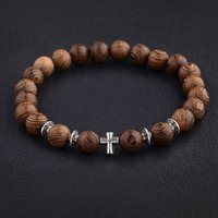 Hot Men legno Perline braccialetti trasversali naturali di preghiera del braccialetto del branello dei monili delle donne di legno 2020
