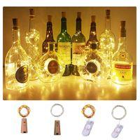 LED ضوء سلسلة مقاوم للماء النحاس مصغرة الجنية الجنية أضواء DIY الزجاج حرفة زجاجة أضواء سلسلة عيد الميلاد الخفيفة 2M