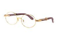 2020 esportes da forma do búfalo preto óculos homens round frame lentes de círculo de madeira óculos sem aro mulheres óculos de sol com caixas Lunettes