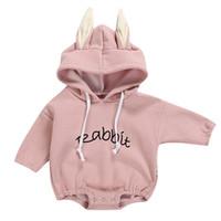 Enfant Vêtements Nouveau Double enfant Baby Girl Garçon Garçon Lettre Sweat-shirt Tops Romper Pullover Body Veement Enfant FileLe