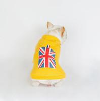 Pet одежды собаки одежды моды свитер американский флаг печать красивый Толстовки с крышкой британского толстовка с капюшоном в стиле M слово капот