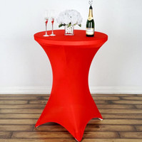 웨딩 파티 연회 장식 60 * 110cm 스판덱스 칵테일 스트레치 라운드 식탁보 테이블 커버 도매 식탁보 크기