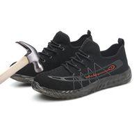 Мужская обувь безопасности стальной носок рабочие сапоги для мужчин легкий дышащий анти-разбив строительство кроссовки прокол доказательство