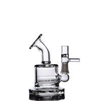 3,2 tums mini bong tjocka heady glas bongs Klein Small Recycler DAB oljeplattor Vattenrör med downstemer perc 10mm led