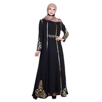 2019 vestito musulmano donne abbigliamento islamico marocchino kaftano abayas signore lunghi kaftani abito dubai 2 pezzi abiti turchi abaya
