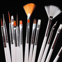 15PCS blanc ongles Pinceaux argile polymère Art peinture Pinceau pour Gel Vernis manucure Art Dotting Pinceau bricolage Outils à ongles
