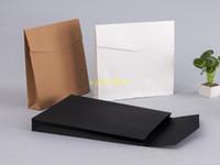100pcs / lot papel kraft envelope caixas de presente atual pacote de saco Para Livro / lenço / Roupas Decoração favor do casamento Documento
