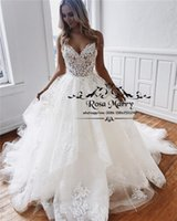 Arabic Design Lace Ball Gown Wedding Dresses 2019 Backless P...