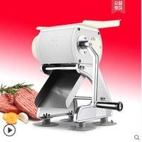 Home Mini Manueller Fleischschneidemaschine zum Schneiden von Schweinefleisch Scheibe Chili Silk Ham Ding Edelstahl Fleisch Slicer