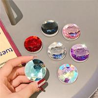 Soporte de soporte de teléfono de cristal diamante y soporte para teléfonos celulares para tabletas con paquete