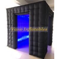 LED inflável Photo Booth com Inner Air Blower e Controle Remoto Luzes LED PhotoBooth Pano de fundo para casamentos eventos
