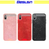 Fashion Water Drill Flash Phone Case for IPhoneX Xs XSmax XR...