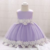 Retail Newborn Baby Girl Dresses With Lace Flower Belt Baby ...