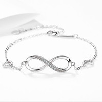 Fashion 925 Sterling Silver Infinity Wedding Bracelet Cubic ...