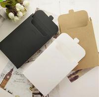 Tarjeta de felicitación de embalaje Caja de cartón Sobre Tipo Postales cajas de regalo 15,5 * 10,8 * 1,5 cm