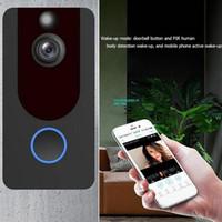 V7 1080 P WIFI Video Kapı Zili Kamera Kablosuz Görüntülü Kapı Telefonu Interkom Uzaktan İzleme Alarmı 140 Derece HD Moblie Görüntüleme