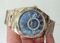 5 Color Men's 2813 Reloj automático de pulseras DURAL DUAL ZONA TIEMPO MENS 326938 SKY GMT SAPFIRE CRISTAL DE CRISTAL 326935 Relojes para hombre