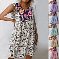 2020 лето новый стиль европейского и американского типа горячего продавая Leopord с печатным рисунком платье рубашка Женская одежда платье