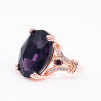 Мода Большой Овальный Камень Кристалл Кольцо Вечности Обещание Обручальные Кольца Для Женщин Ювелирные Изделия Подарки R725
