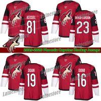 Phoenix Arizona Coyotes Jersey 81 Phil Kessel 16 Max Domi Jersey 23 Oliver Ekman-Larsson Red White Blank Blank Jerseys